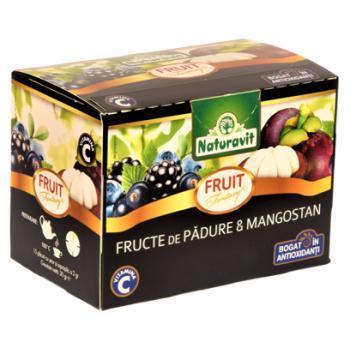 Ceai din fructe de padure & mangostan 15 pl NATURAVIT