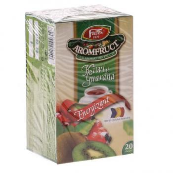 Ceai energizant de kiwi si guarana 20 pl FARES