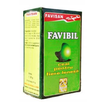 Ceai favibil pentru fiere lenesa d010 20 pl FAVISAN