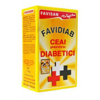 Favidiab  ceai pentru diabetici d011 20 pl FAVISAN
