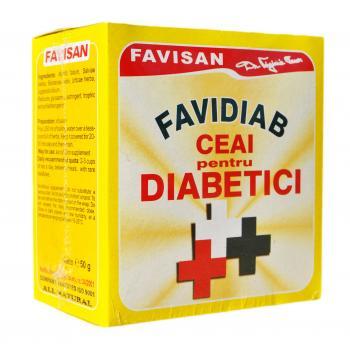 Favidiab  ceai pentru diabetici d016 50 gr FAVISAN