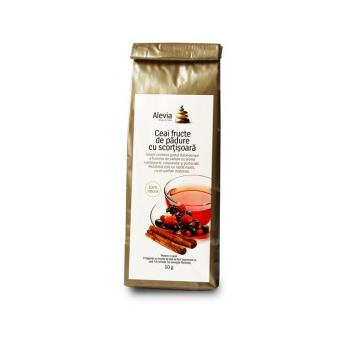 Ceai fructe de padure cu scortisoara 50 gr ALEVIA