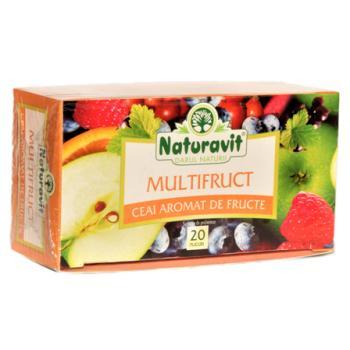 Ceai multifruct 20 pl NATURAVIT