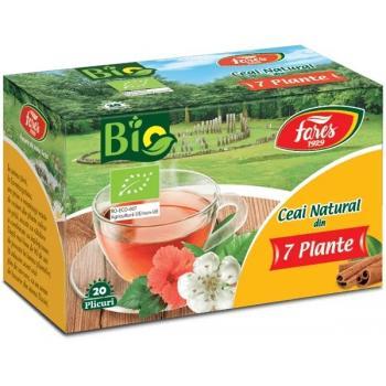 Ceai natural din 7 plante bio 20 pl FARES