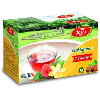 Ceai natural din 7 plante 20 pl FARES
