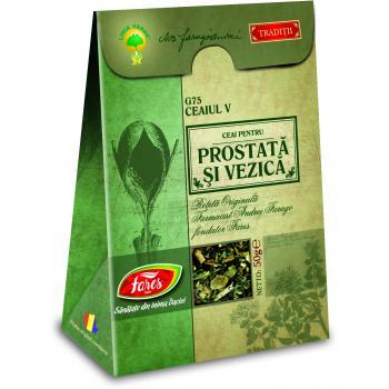 Ceai pentru prostata si vezica g75 ceaiul v 50 gr FARES