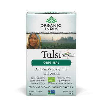 Ceai tulsi (busuioc sfant) original 18 pl ORGANIC INDIA