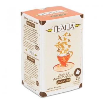 Ceai vanilla,ginger,peach  20 pl TEALIA