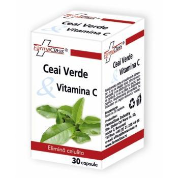 Ceai verde & vitamina c 30 cps FARMACLASS