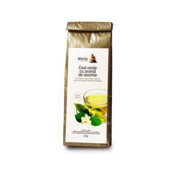 Ceai verde cu aroma de iasomie 50 gr ALEVIA