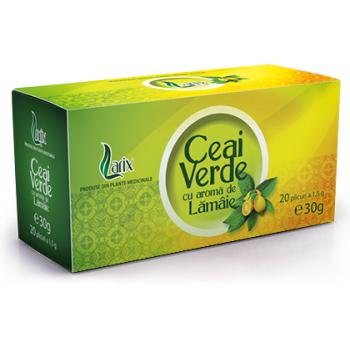 Ceai verde cu aroma de lamaie 20 pl LARIX