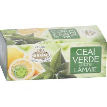 Ceai verde cu aroma de lamaie 20 pl BELIN