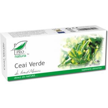 Ceai verde 30 cps PRO NATURA