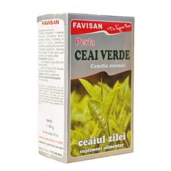 Ceai verde perla d026 20 pl FAVISAN