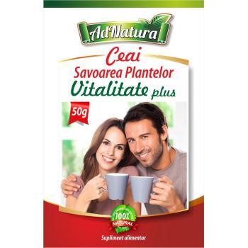 Ceai vitalitate plus savoarea plantelor 50 gr ADNATURA