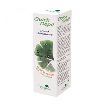 Crema depilatoare cu ulei de trandafir-quick depil 125 ml PARAPHARM
