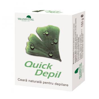 Ceara naturala depilatoare-quick depil 150 gr TRANSVITAL