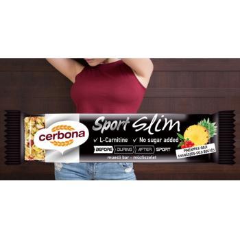 Cerbona sport slim-baton musli pentru slabit cu ananas si goji 35 gr CERBONA