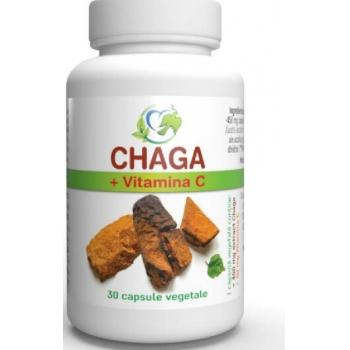 Chaga + vitamina c 30 cps JUSTIN PHARMA