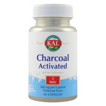 Charcoal activated ( carbune medicinal) 50 cps KAL
