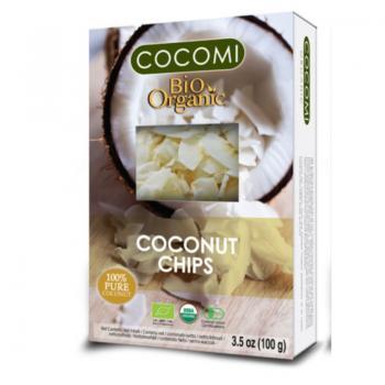 Chips din nuca de cocos (raw) bio 100 gr COCOMI