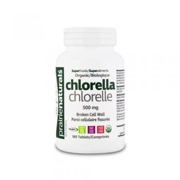 Chlorella – 500 mg  180 cps PRAIRIE NATURALS