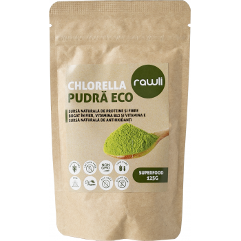 Chlorella pudra eco 125 gr RAWLI