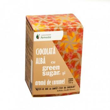 Ciocolata calda alba cu green sugar si aroma de caramel 10 pl REMEDIA
