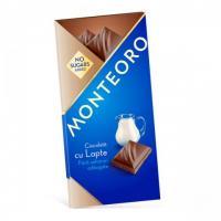 Ciocolata cu lapte fara zahar monteoro