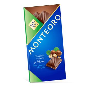 Ciocolata cu lapte si alune monteoro 90 gr SLY NUTRITIA