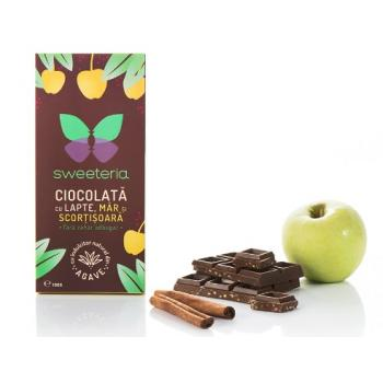 Ciocolata lapte cu mar scortisoara si indulcitor nectar agave 100 gr SWEETERIA