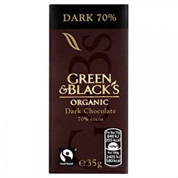 Ciocolata organica neagra 35 gr UNICORN NATURALS