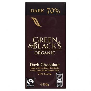 Ciocolota organica neagra 70% 100 gr UNICORN NATURALS