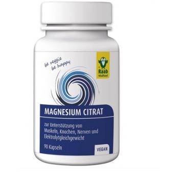 Citrat de magneziu 600mg vegan 90 cps RAAB