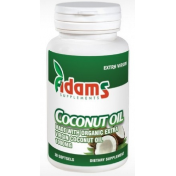 Coconut oil 1000mg  30 cps ADAMS SUPPLEMENTS