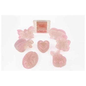 Cocosapun transparent figurine cu migdale dulci si parfum roze 50 gr VERRE DE NATURE