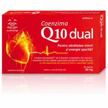 Coenzima q10 dual 30 cps GOOD DAYS THERAPY