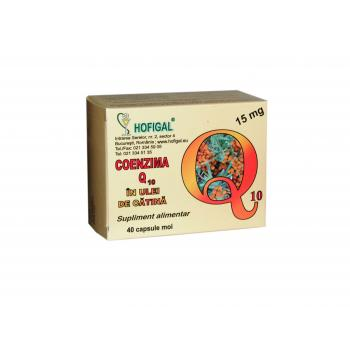 Coenzima q10 in ulei de catina 15mg 40 cps HOFIGAL