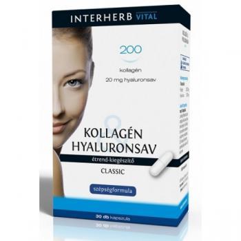 Colagen & acid hialuronic clasic 30 cps INTERHERB