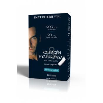 Colagen & acid hialuronic pentru barbati 30 cps INTERHERB