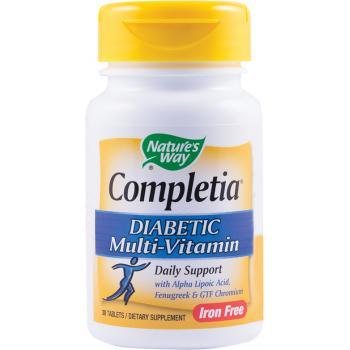 Completia diabetic multi-vitamin 30 tbl NATURES WAY