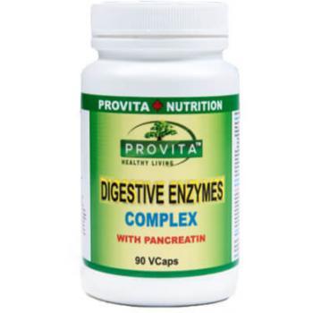 Complex de Enzime Digestive cu Pancreatina 90 cps PROVITA