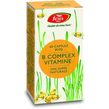 Complex de vitamine b naturale 60 cps FARES