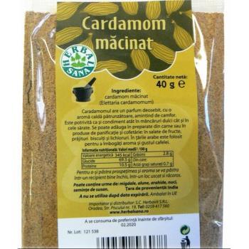 Condiment cardamom macinat 40 gr HERBALSANA