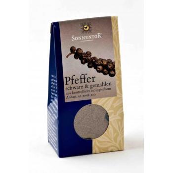 Condiment din piper negru (macinat) 35 gr SONNENTOR