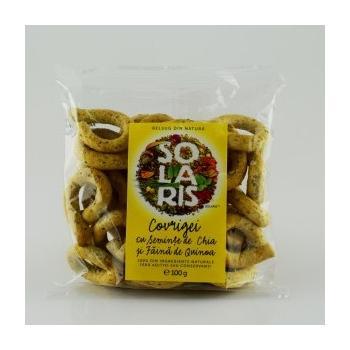 Covrigei din faina integrala cu seminte chia si faina de quinoa 100 gr SOLARIS