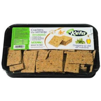 Crackers cu seminte oregano 200 gr KETA