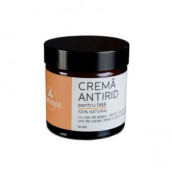 Crema antirid 100% naturala cu ulei de argan si catina 50 ml TRIO VERDE