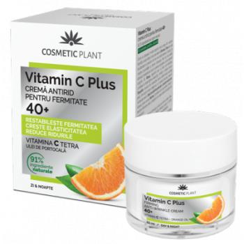 Crema antirid pentru fermitate 40 + vit c 50 ml VITAMIN C PLUS