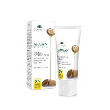 Crema contur ochi cu ulei de argan bio si extract bio de aloe vera 30 ml COSMETIC PLANT